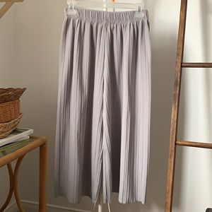 Silver pleated dress pants